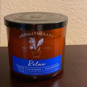 Relax Aromatherapy Bath & Body Works Candle